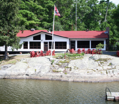 View Of Main Lodge From Boat Dock