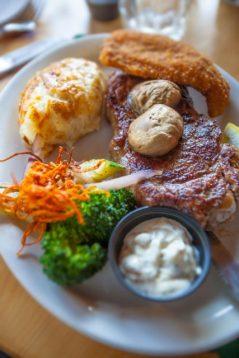 Steak Dinner Crow Rock Style